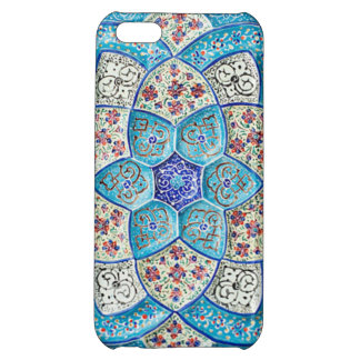 Traditional Moroccan turquoise Blue, white, salmon iPhone 5C Cases
