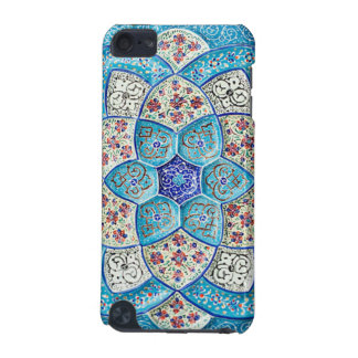 Traditional Moroccan turquoise Blue, white, salmon iPod Touch (5th Generation) Cover