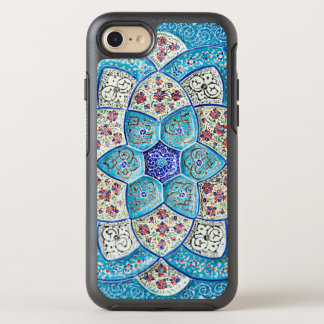 Traditional Moroccan turquoise Blue, white, salmon OtterBox Symmetry iPhone 7 Case