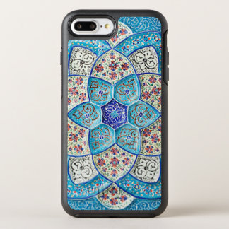 Traditional Moroccan turquoise Blue, white, salmon OtterBox Symmetry iPhone 8 Plus/7 Plus Case