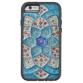 Traditional Moroccan turquoise Blue, white, salmon Tough Xtreme iPhone 6 Case