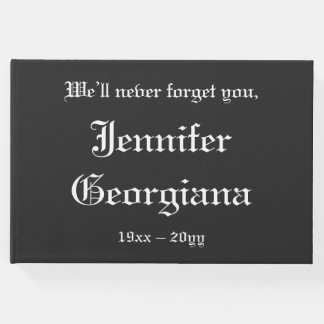 Traditional, Mournful Condolences Guestbook
