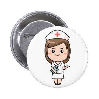Traditional Nurse 6 Cm Round Badge