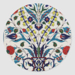 Traditional OTTOMAN floral design tiles Classic Round Sticker