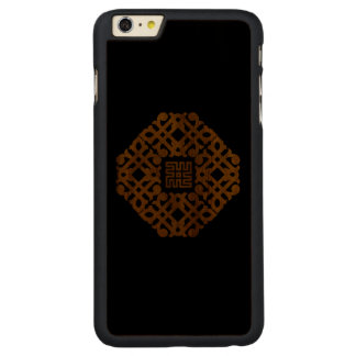 Traditional pattern carved® walnut iPhone 6 plus case
