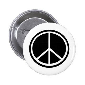 Traditional peace symbol 6 cm round badge