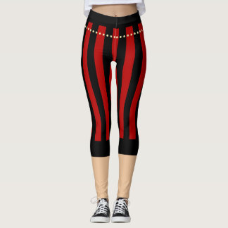 Traditional Pirate Pants Red Black Leggings