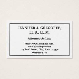 Traditional & Plain Attorney-At-Law Business Card