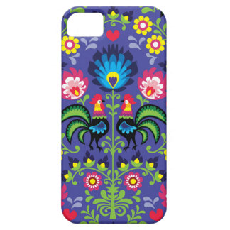 Traditional Polish floral embroidery with roosters Case For The iPhone 5