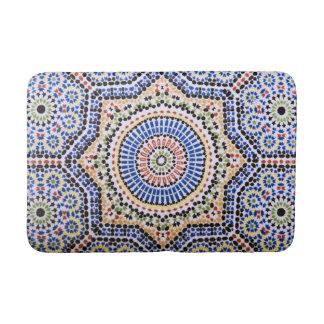 Traditional Portuguese Azulejo Tile Pattern Bath Mat