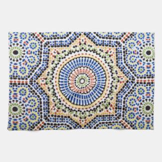 Traditional Portuguese Azulejo Tile Pattern Kitchen Towel