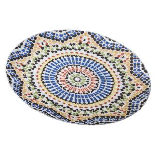 Traditional Portuguese Azulejo Tile Pattern Plates
