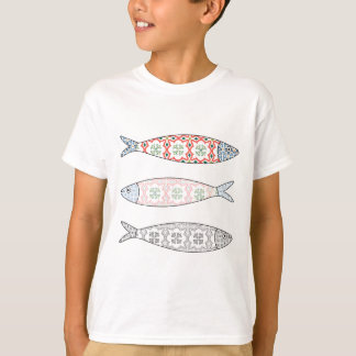 Traditional Portuguese icon. Colored sardines T-Shirt
