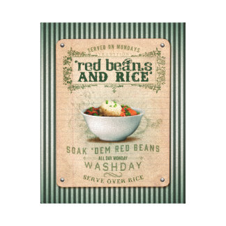 Traditional Red Beans & Rice Canvas Print