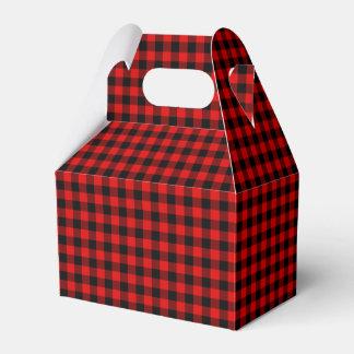 Traditional Red Black Buffalo Check Plaid Pattern Favour Box
