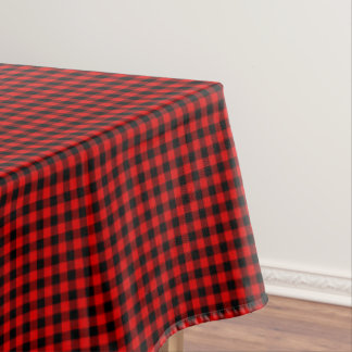 Traditional Red Black Buffalo Check Plaid Pattern Tablecloth