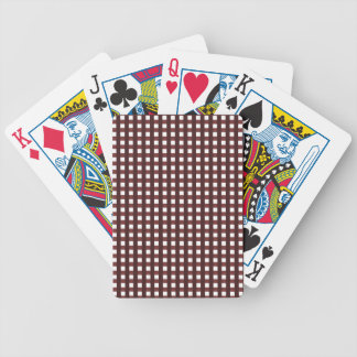 Traditional red chequered pattern, worker clothing bicycle playing cards