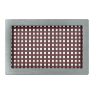 Traditional red chequered pattern, worker clothing rectangular belt buckles