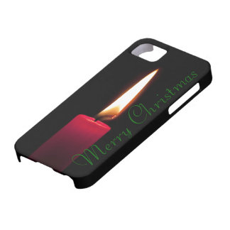 Traditional Red Christmas Candle Burning iPhone 5 Covers