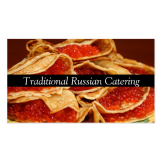 Traditional Russian Catering  Service Occasions Business Card Template