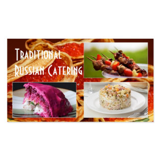 Traditional Russian Catering  Service Occasions Business Card Templates