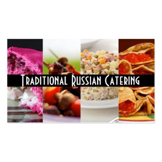 Traditional Russian Catering  Service Occasions Business Cards