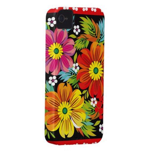 Traditional Russian Flowers Art Blackberry Case