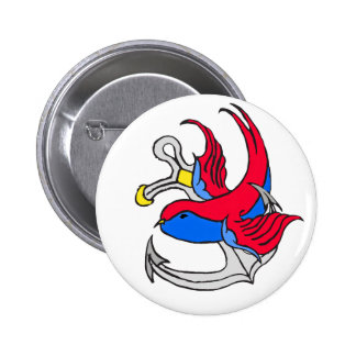Traditional Sailor Tattoo design 6 Cm Round Badge