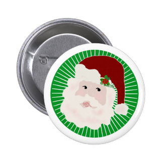 Traditional Santa 6 Cm Round Badge
