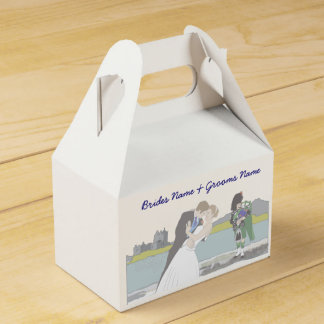 Traditional Scottish and Celtic Wedding Theme Favour Box