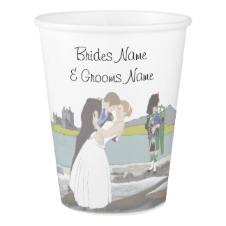 Traditional Scottish and Celtic Wedding Theme Paper Cup