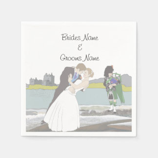Traditional Scottish and Celtic Wedding Theme Paper Serviettes