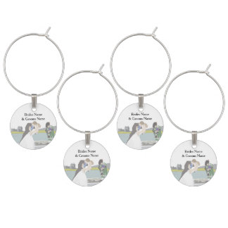 Traditional Scottish and Celtic Wedding Theme Wine Charms