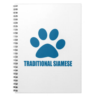TRADITIONAL SIAMESE CAT DESIGNS NOTEBOOKS