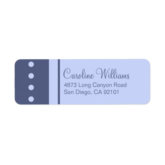 Traditional Simple Return Address Label