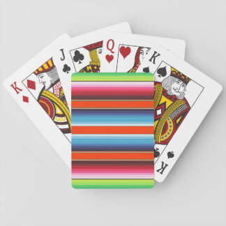 Traditional Spanish Serape Fiesta Mexican Blanket Playing Cards