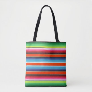 Traditional Spanish Serape Fiesta Mexican Blanket Tote Bag