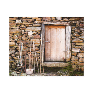 Traditional Stone House Canvas Print