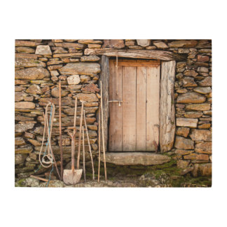 Traditional Stone House Wood Wall Decor