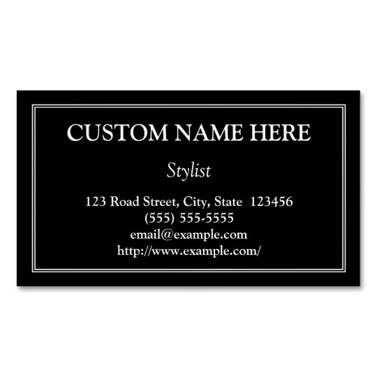 Traditional Stylist Magnetic Business Card