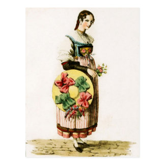 Traditional Swiss costume of the Canton of Lucerne Postcard