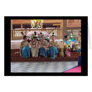Traditional Thai Dancers take a break! Card