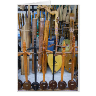 Traditional Thai Instruments Card