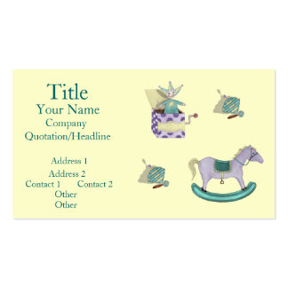 Traditional Toys/Pastel Business Card Templates
