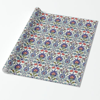 traditional turkish tiles wrapping paper