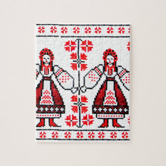 Traditional Ukrainian embroidery ukraine girls Jigsaw Puzzle