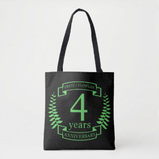 Traditional US wedding anniversary 4 years Tote Bag