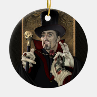 Traditional Vampire Personalized Round Ornament