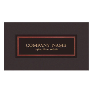 Traditional Vintage Style Classical Entrepreneur Pack Of Standard Business Cards