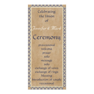 Traditional Wedding Program and Wedding Party Card